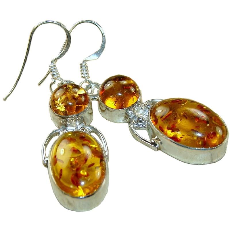 Alissa sterling silver amber earrings earrings with amber gemstone