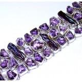 Alison Sterling Silver Amethyst  Bracelet
