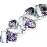 Alondra Sterling Silver Amethyst  Bracelet
