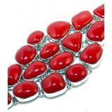 Coral Silver Bracelet