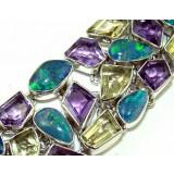 Hannah Sterling Silver Amethyst  Bracelet