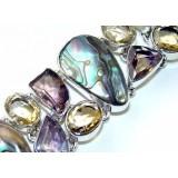 Haylee Sterling Silver Amethyst  Bracelet