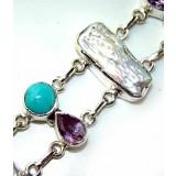 Carly Sterling Silver Amethyst  Bracelet