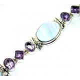 Lexi Sterling Silver Amethyst  Bracelet