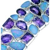Juliet Sterling Silver Amethyst  Bracelet
