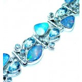 Lola Sterling Silver Topaz  Bracelet