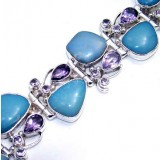 Yesenia Sterling Silver Amethyst  Bracelet