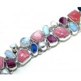 Kaelynn Sterling Silver Rhodochrosite  Bracelet