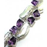 Kiersten Sterling Silver Amethyst  Bracelet