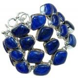 Malia Sterling Silver Lapis  Bracelet