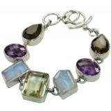 Allyson Sterling Silver Quartz  Bracelet