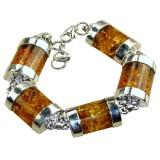Amber Silver Bracelet