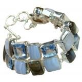 Amelia Sterling Silver Labradorite  Bracelet