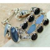 Adelyn Sterling Silver Onyx  Bracelet