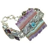 Sloan Sterling Silver Amethyst  Bracelet