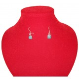 Classic deep Blue Jade Earrings
