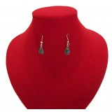 Lluvia Green Aguacate Jade Earrings