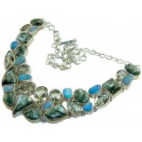 Lina Sterling Silver Opal  Necklace