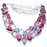 Ashlyn Sterling Silver Rhodochrosite  Necklace