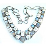 Maria Sterling Silver Moonstone Necklace