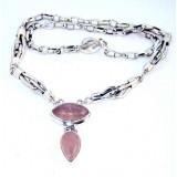 Rebecca Sterling Silver Quartz  Necklace