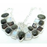 Margaret Sterling Silver Onyx  Necklace