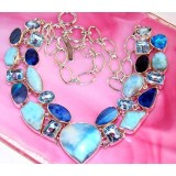 Haley Sterling Silver Larimar  Necklace
