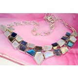 Maci Sterling Silver Labradorite  Necklace
