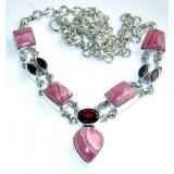 Kate Sterling Silver Rhodochrosite  Necklace
