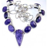 Kaelyn Sterling Silver Gemstone  Necklace