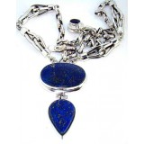 Jordan Sterling Silver Lapis  Necklace