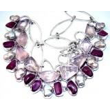Jayla Sterling Silver Quartz  Necklace