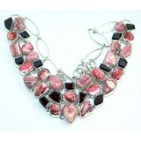 Keira Sterling Silver Rhodochrosite  Necklace