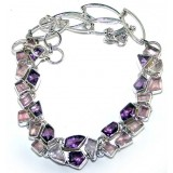 Melanie Sterling Silver Amethyst  Necklace