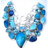Mya Sterling Silver Opal  Necklace