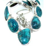 Larissa Sterling Silver Turquoise  Necklace