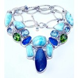 Diana Sterling Silver Gemstone  Necklace