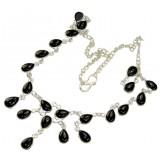 Brynn Sterling Silver Onyx  Necklace