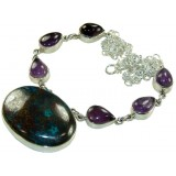Janelle Sterling Silver Gemstone  Necklace