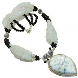 Kinley Sterling Silver Onyx  Necklace