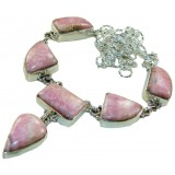 Lara Sterling Silver Rhodochrosite  Necklace