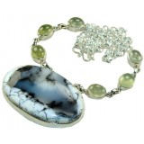 Caitlin Sterling Silver Gemstone  Necklace