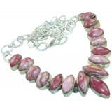 Adrianna Sterling Silver Rhodochrosite  Necklace