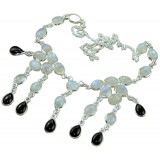 Jenna Sterling Silver Moonstone  Necklace
