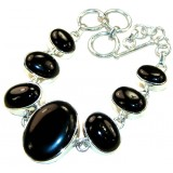 Ryleigh Sterling Silver Onyx  Necklace