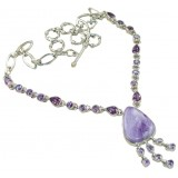 Amethyst Silver Necklace