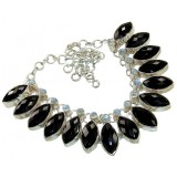 Onyx Silver Necklace