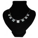 Chica Light Blue Jade Necklace