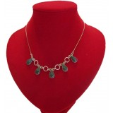Lluvia Green Aguacate Jade Necklace