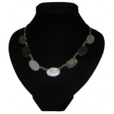 Rainbow 7 colors Jade Necklace